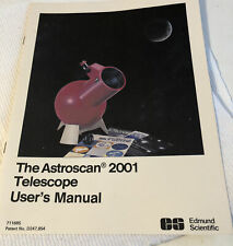 Edmund Scientific The Astroscan 2001 Telescope Users Manual