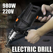 220V 980W Electric Impact Drill Screwdriver Angle Grinder Polisher Cutting Black