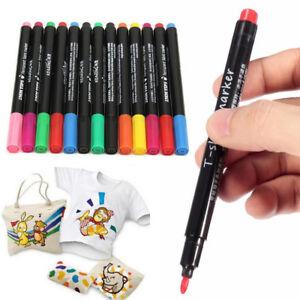 Multicoloured T-Shirt Permanent Clothes Shoes Fabric Textile Paint Marker Pens