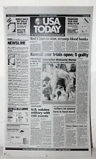 USA TODAY newspaper printing plate MAY 20 1991 Kuwait War Trials Open