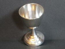 Antique Solid 830 S Silver Scandinavian Pedestal Egg Cup 28 Grams, Marked, Rare!