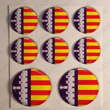 Pegatinas Mallorca Pegatina Bandera Mallorca Resina Vinilo Relieve España 3D