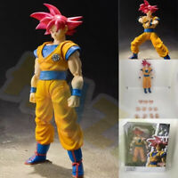 "Anime Dragon Ball Z Son Goku Red Hair 16cm/6"" PVC Action Figure Model In Box"