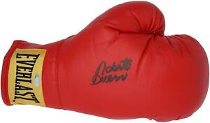 Roberto Duran Autographed Red Boxing Glove Fanatics Authentic Certified
