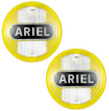 Ariel Fuel Tank Badges - Yellow - 1954-59 (pair) - Singles Twins and Square 4