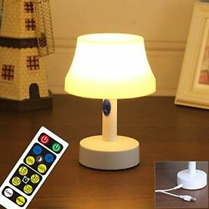WRalwaysLX Bedside Table Lamp with Timer Night Light Battery Operated lamp...