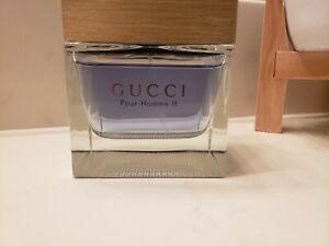 Gucci Pour Homme II 3.3oz Men's Eau de Toilette partial without box discontinued