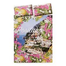 Completo lenzuola Positano con stampa digitale Novia Matrimoniale Q318