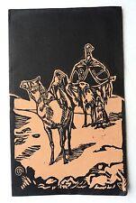 PROGRAMME CAEN 1932 PAROISSE SAINT JEAN GALA VISION D'ORIENT LINOGRAVURE h922