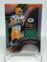 2020 Panini NFL SELECT FOOTBALL AARON RODGERS Select Swatches SS-ARO /99 Silver