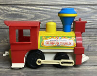 Vintage Fisher Price 1972 Circus Train No 991 Red Yellow Plastic Engine