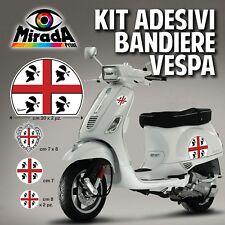 KIT Adesivi Stickers VESPA BANDIERA ITALIA SARDEGNA MORI PX GTS PRIMAVERA