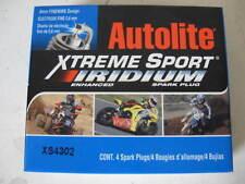 FOUR(4) Autolite XS4302 Xtreme Iridium Spark Plug BOX fits Cycle Motorcycle ATV