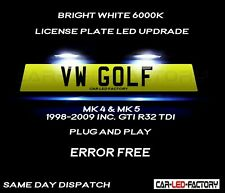Fit VW Golf MK4 MK5 +GTI R32 TDI White LED Number Plate Light Bulb *PLUG & PLAY*