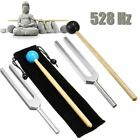 USA 528HZ Aluminum Medical Tuning Fork Chakra Hammer Ball Diagnostic +Mallet Set