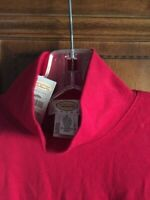 Talbots Christmas Red long sleeve Turtleneck Shirt Top Petite M PM NEW NWT