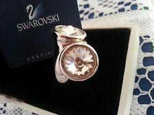 Swarvoski Clear Crystal Twist Silver Plate Ring. Size Medium / See Chart Below