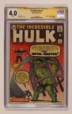 Incredible Hulk #6 CGC 4.0 SS Stan Lee 1513038003