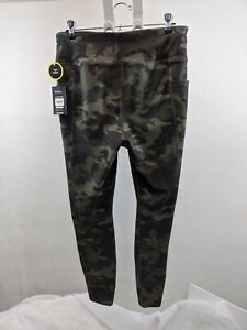 NWT ATHLETIC WORKS SZ L CAMO GREEN LEGGINGS Pants HIGH RISE ACTIVEWEAR ATHLEISUR