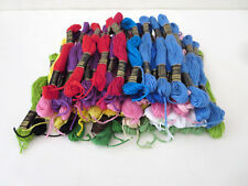 LOT OF 64 FULL SKEINS OF JANLYNN / DFN FIL À BRODER EMBROIDERY FLOSS 100% COTTON