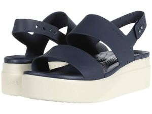Crocs Brooklyn Low Wedge Navy/Mushroom