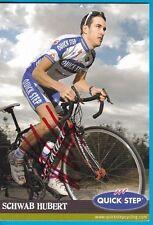 CYCLISME carte cycliste SCHWAB HUBERT équipe QUICK-STEP signée