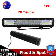 17inch 7D+Tri row 252W LED Light Bar Combo Boat Ford Fog Lamp Driving Offroad AU