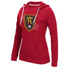 "Real Salt Lake MLS Adidas Women's ""Net Behind"" Red Crewdie Hoodie"