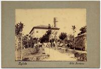 Tagliolo Monferrato Alessandria Villa Bardazza Foto originale albumina 1890 L650