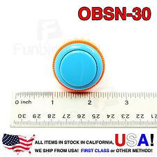 Sanwa Denshi Original OBSN-30 BLUE Push Button Screw Type secure JAMMA