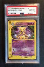 Pokemon Card PSA 10 Alakazam Holo - Expedition - Gem Mint #1/165