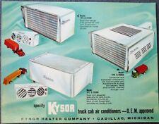Kysor Truck Cab Air Conditioner, Cadillac, MI 1960 Giant / Oversized Ad Postcard