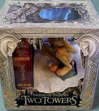Two Towers Collectors DVD Gift Set Lord of the Rings Gollum Statue Figure Xmas