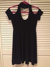 Norma Kamali Black Cold Shoulder Dress Small