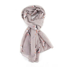 The Olive House® Womens British Puffin Sea Bird Scarf Grey