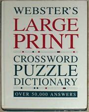 WEBSTER'S ~ LARGE PRINT ~ CROSSWORD PUZZLE DICTIONARY ~ OVER 50,000 ANSWERS ~ HC