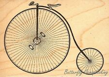 Penny Farthing Bicycle, Wood Mounted Rubber Stamp JUDIKINS - NEW, 3551G