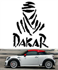 DAKAR Black Vinyl Decal Sticker Car Bike Vehicle Window Helmet Rally Emblem +