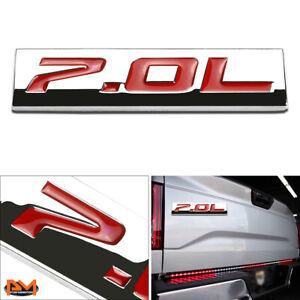 """""""7.0L"""" Polished Metal 3D Decal Red Emblem Sticker For 06-13 Chevrolet Corvette"""