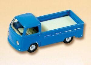 VW Bulli Pritschenwagen blau Blech Kovap 1:43 Blechauto Blechspielzeug