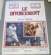 Affiche de cinéma : LE DIVORCEMENT de Pierre BAROUH
