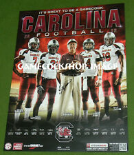 2012 USC Gamecocks SPURRIER SIGNED Schedule Poster Gamecock Collectors MUST L@@K