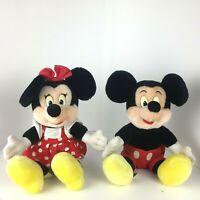 Mickey & Minnie Mouse Vintage Plush Disneyland Walt Disney World Park Toy 10in