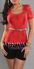 Polyester Short Sleeve Solid Petite Tops & Blouses for Women