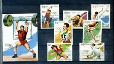 "1989 KAMPUCHEA, Set and Sheet ""OLIMPIADAS BARCELONA´92, BARCELONA OLYMPIC 92 """