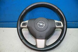 Opel Astra H Bj.06 Cuir Volant 13234176 Multifonction Avec Airbag 13111344