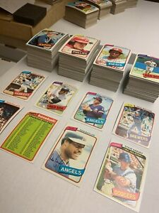 1980 Topps Baseball Cards Near Complete Set 476 All Different