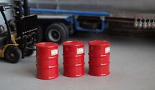1/18 Scale RED Fuel Barrels (3) Shop Garage Diorama items Austin's Garage