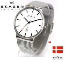 SKAGEN MEN'S ULTRA SLIM MESH BAND SILVER LUXURY WATCH SKW6052