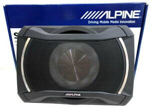 Alpine SWE-1080 Under Seat Car Active Amplified Powered Subwoofer System 160W